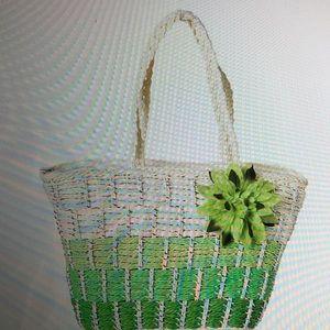 Handbags - STRAW WOVEN TOTE BAG